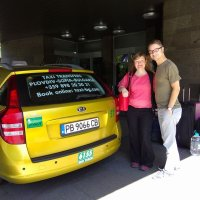 Taxi transfers with clients