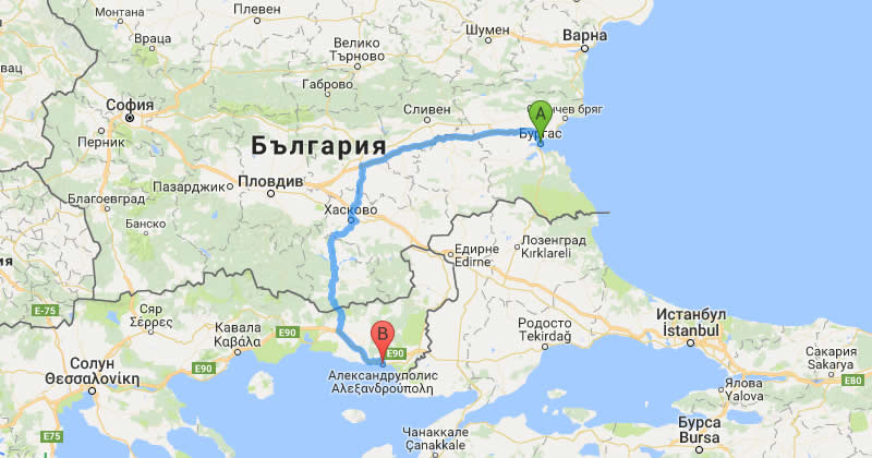 Private Taxi Transfer Burgas Alexandrupolis (Greece) Easy Booking system